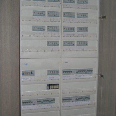 Tableau électrique avec gestion domotique KNX Hager